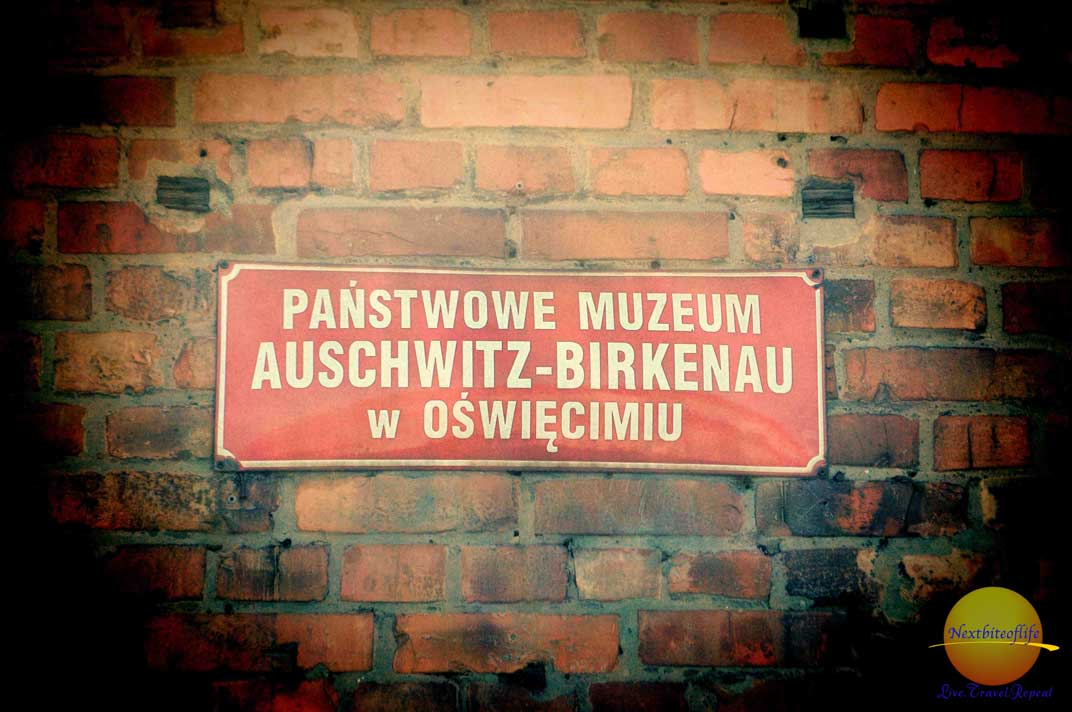 should l visit auschwitz sign at cell block