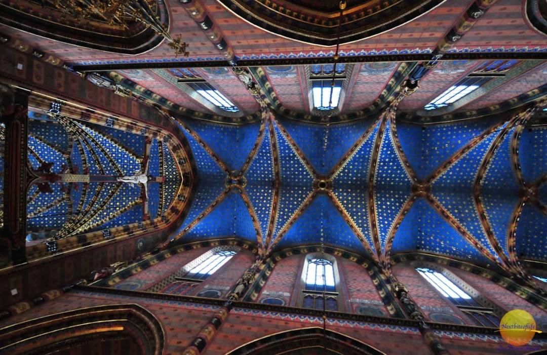 st mary's basilica krakow ceiling