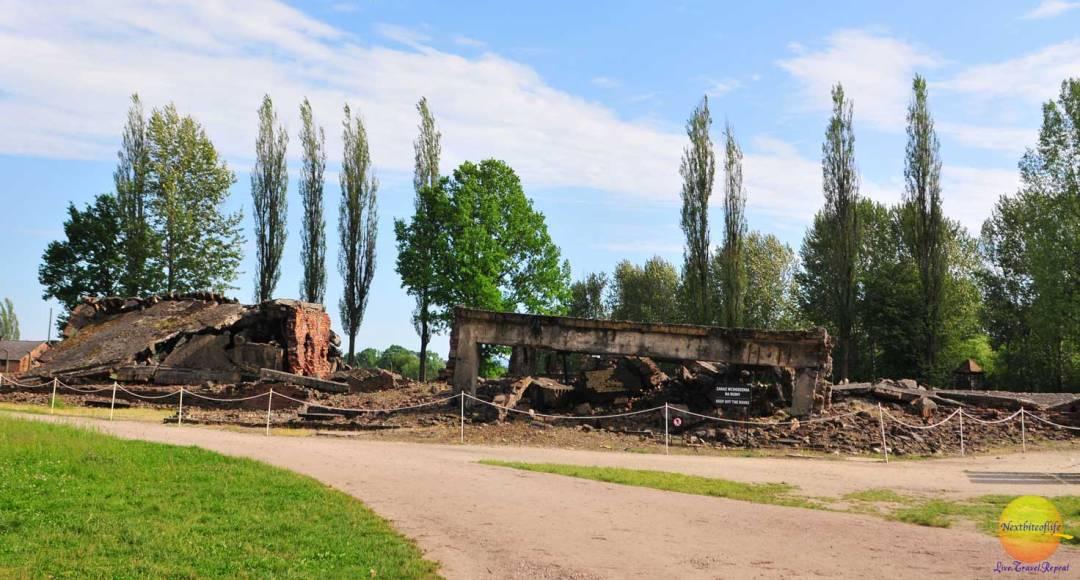crematorium auschwitz ruins