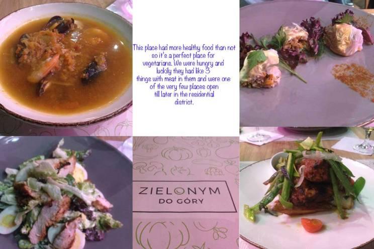 zielonym restaurant krakow food