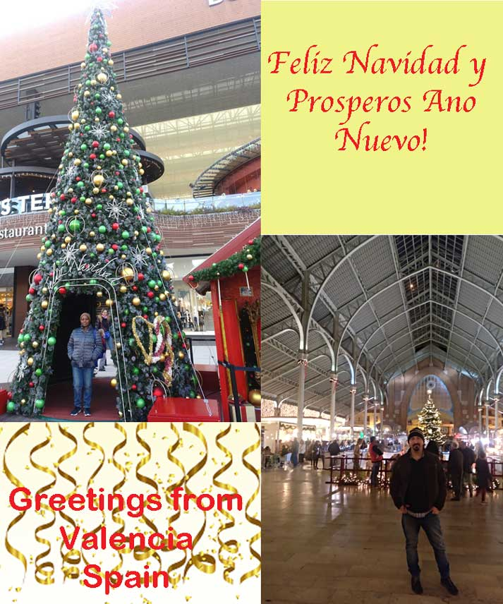 christmas card from valencia spain