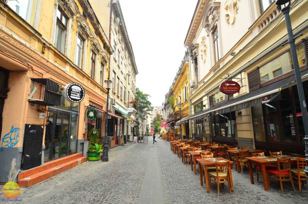 bucharest old town eateries
