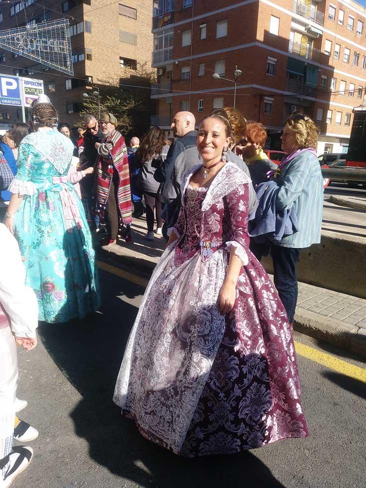 lady dressed up fallas