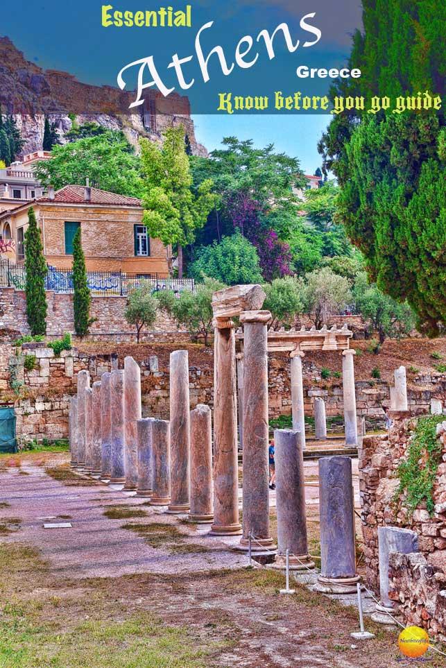 Athens guide - Roman Agora columns #romanagora #athens #greece #mustdoathens #temples #streetartgreece #athensguide