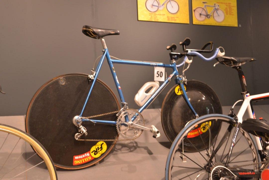old bike at narodni museum prague
