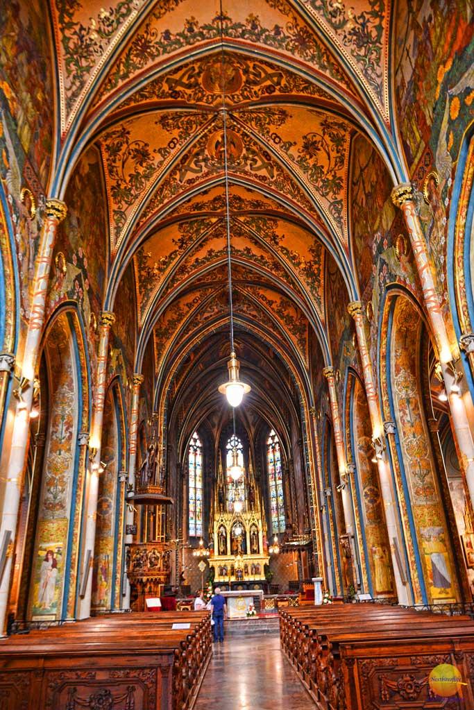 interior vysehrad church