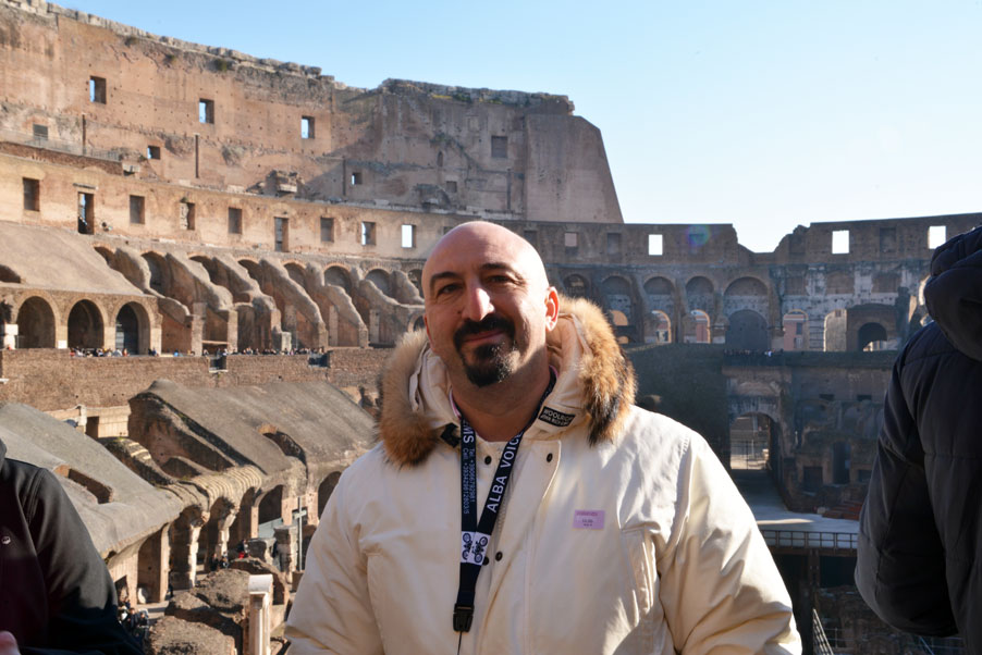 Fede at the colosseum Rome