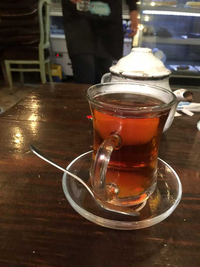 glass of Egyptian tea in Cairo
