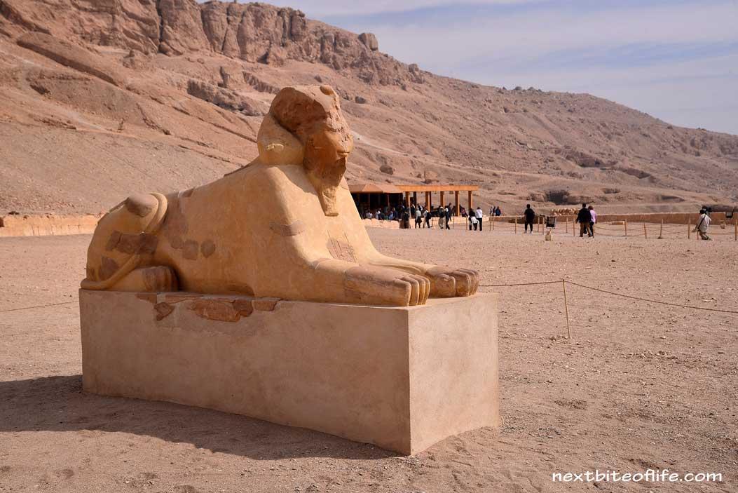 sphinx figure at hatsheput temple Luxor