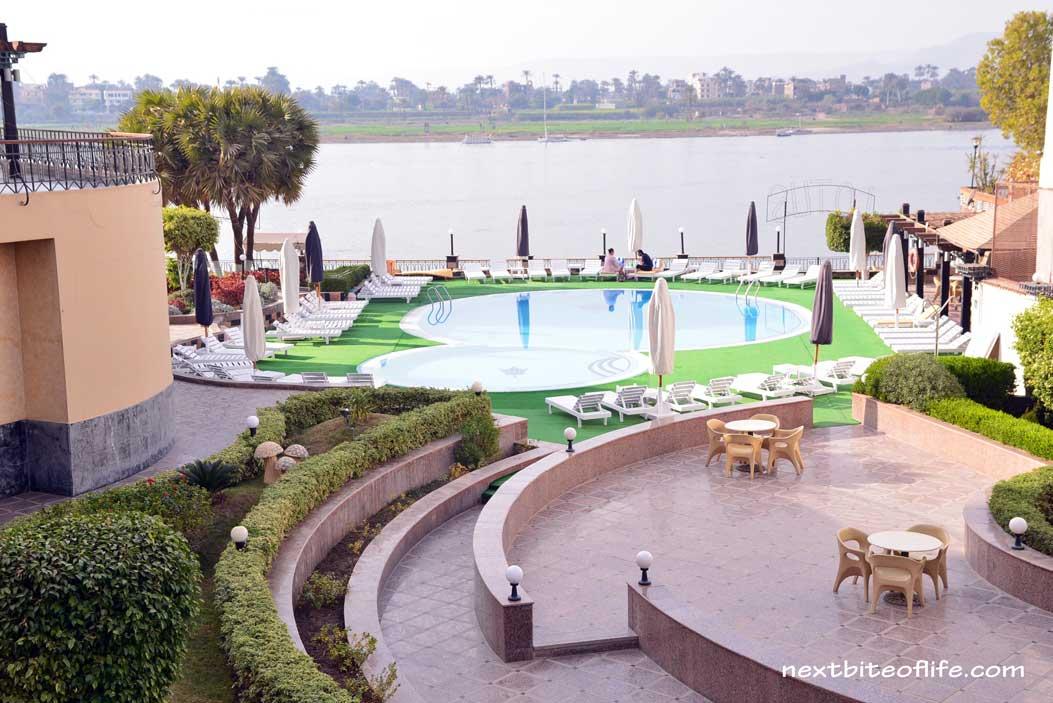 Lotus hotel Luxor Egypt view
