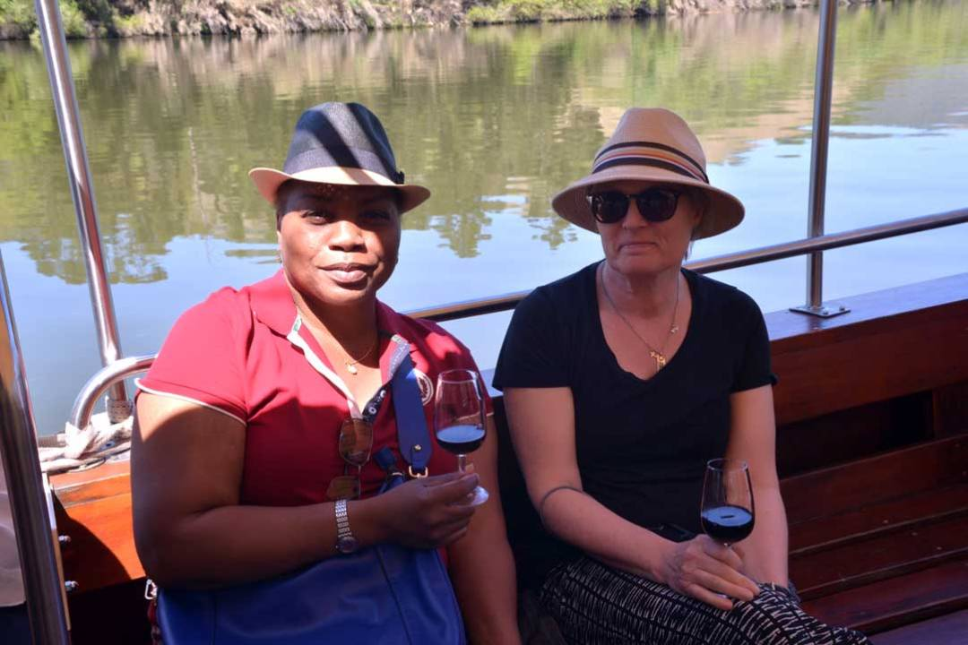 Douro Valley cruise pic of 2 women with wine glasses