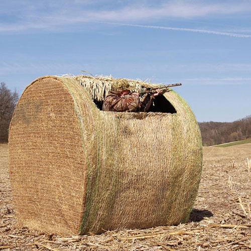 hay bale blind round