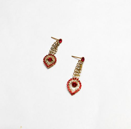 NextBuye Crystal Stone Jewelry Set with Earrings for women [Red] 2