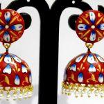 NextBuye Traditional Jhumka Brush Painted Earrings 2