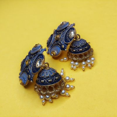 Nextbuye Brush Painting Jhumka Earrings