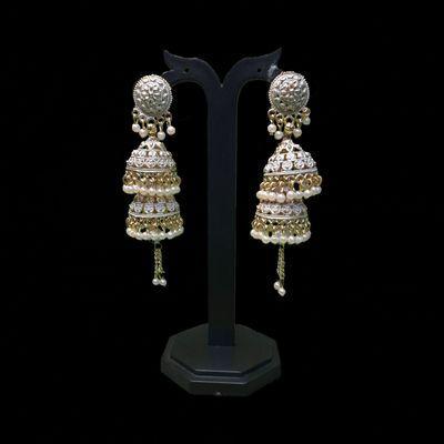 Nextbuye Double Layered Jhumka Earrings 1
