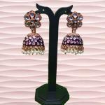 NextBuye meenakari jhumka earrings