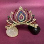 NextBuye Stone Bridal Wedding Crown Cum Tiara Mukut 4