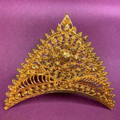 NextBuye Gold Plated Bridal Wedding Tiara Mukut 2