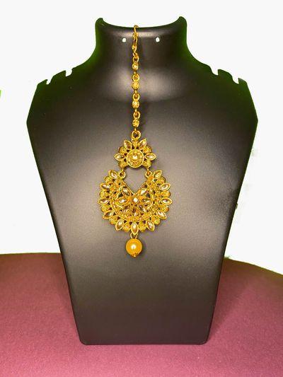 NextBuye Gold Plated Traditional Design Maang Tikka 1