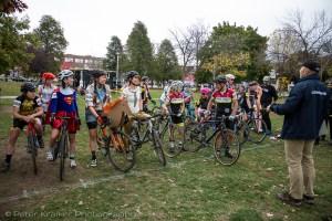 The women's field got into the Halloween spirit