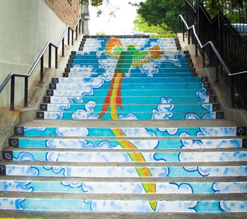 Two New Bronx Murals Encourage Pedestrians to Take the Stairs  Next City