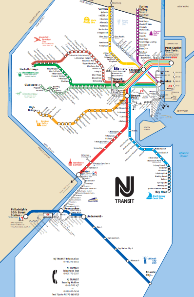 Nj Transit Zone Map : transit, Improve, South, Jersey, Transit, Commuters, Cars)