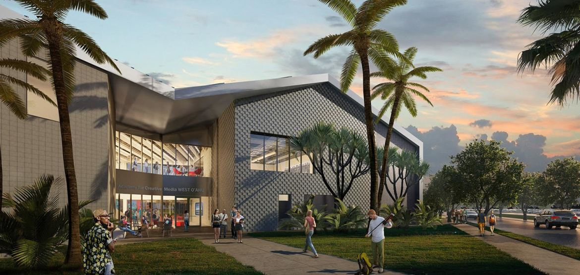 The New Creative Media Building @ UH West Oahu