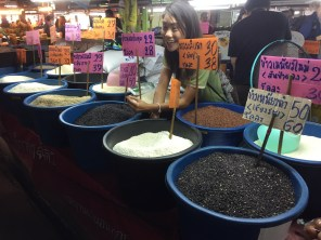 Different varieties of rice at local market