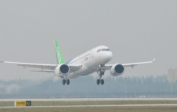China tests its first jumbo plane made in Shanghai