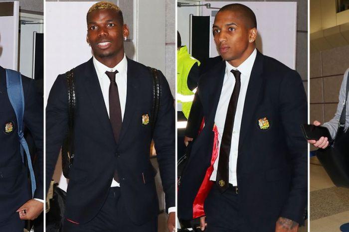 United stars arrive for Arsenal clash