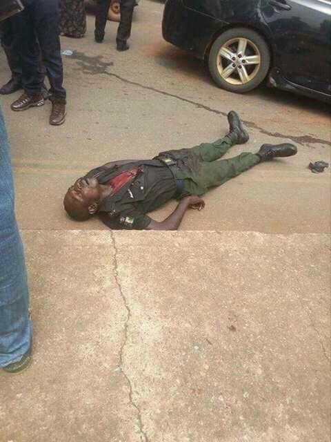 Robbers kill police, cart away N10m