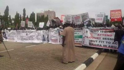 2018 budget:  Protesters storm National Assembly over alterations