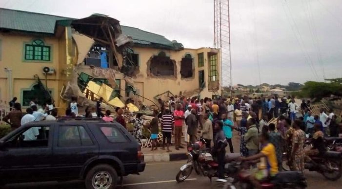 PHOTOS OF THE DAY:  Yinka Ayefele's Music House demolished