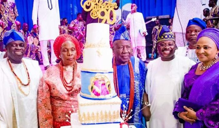 PHOTOS OF THE DAY:  Faces at reception for Olubadan, Oba Saliu Adetunji, at 90