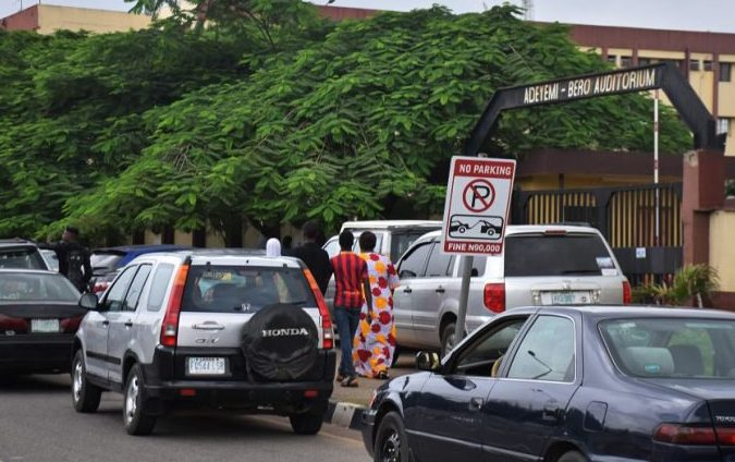 PHOTOS OF THE DAY:  Strike:  NLC seals off Lagos State secretariat
