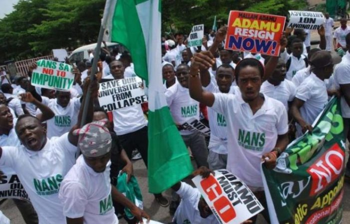 NANS protest, calls for immediate end to ASUU strike