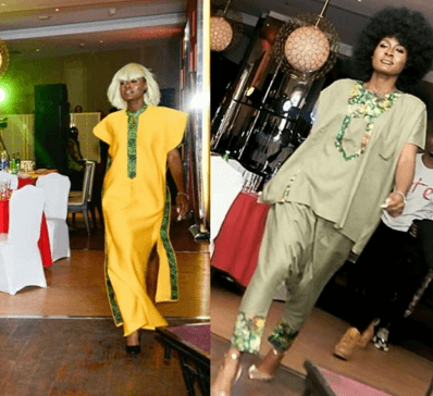 Alex Unusual makes runway appearance in Ade Bakare, Afolayan designs
