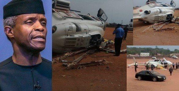 BREAKING: VP Osinbajo Escapes Death as Chopper Crash-lands in Kogi