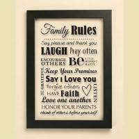 Family Rules - Christian Wall Art - Christian Personalized ...