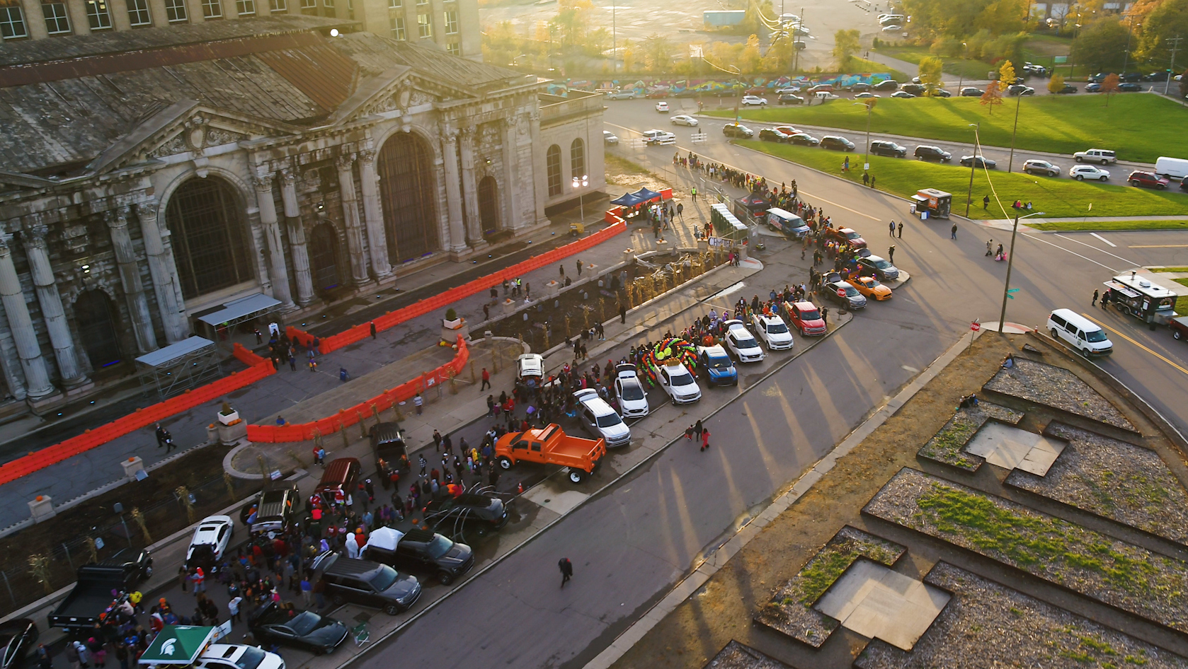 ford brought michigan central station back to life for halloween