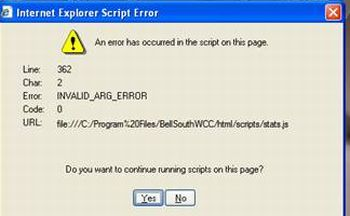 JavaScript Pop UP Error on IE 6