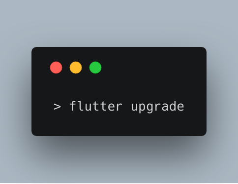 Flutter upgrade command