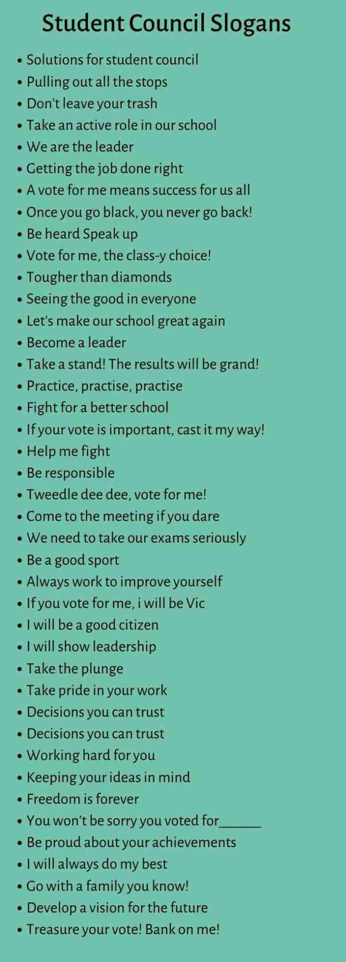 Student Council Slogans