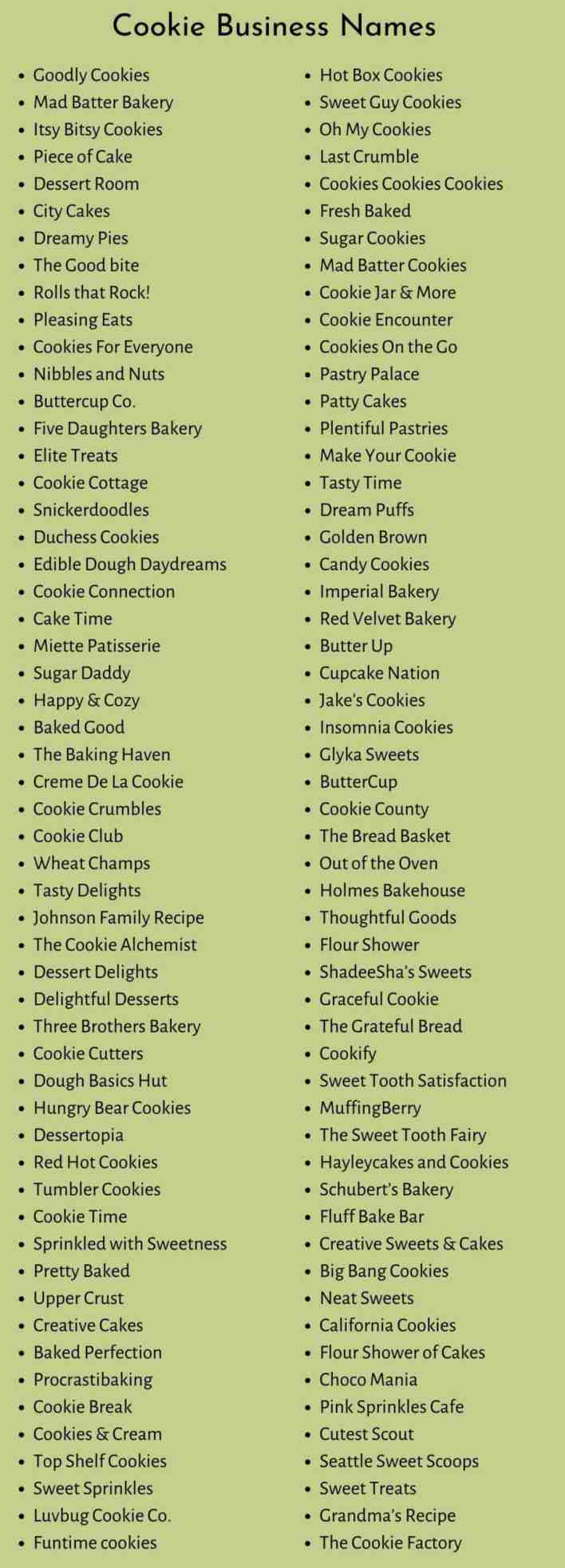 Cookie Business Names