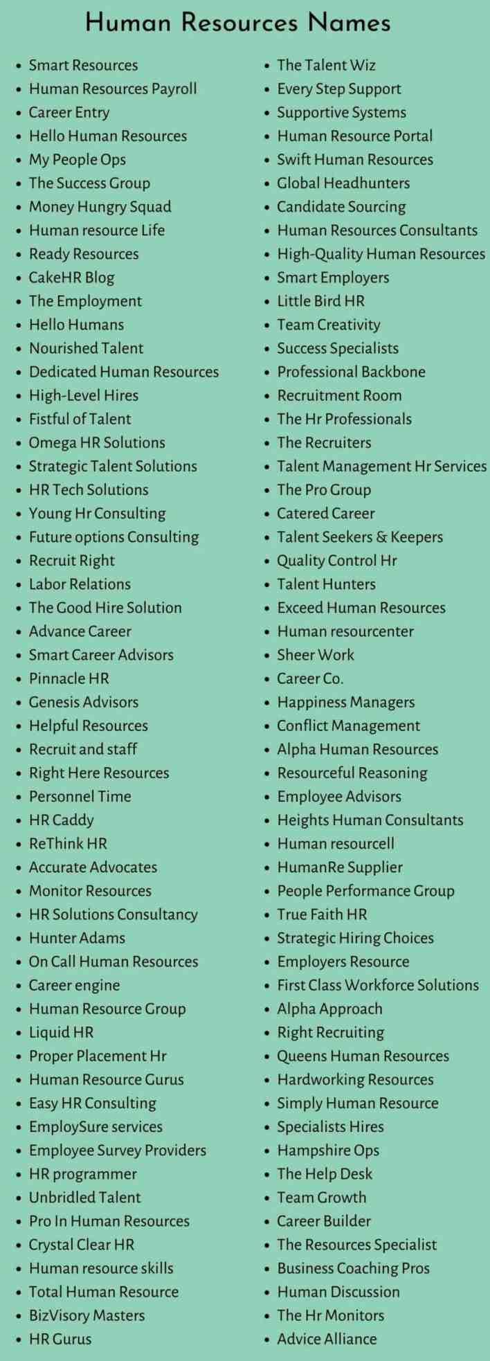 HR Names