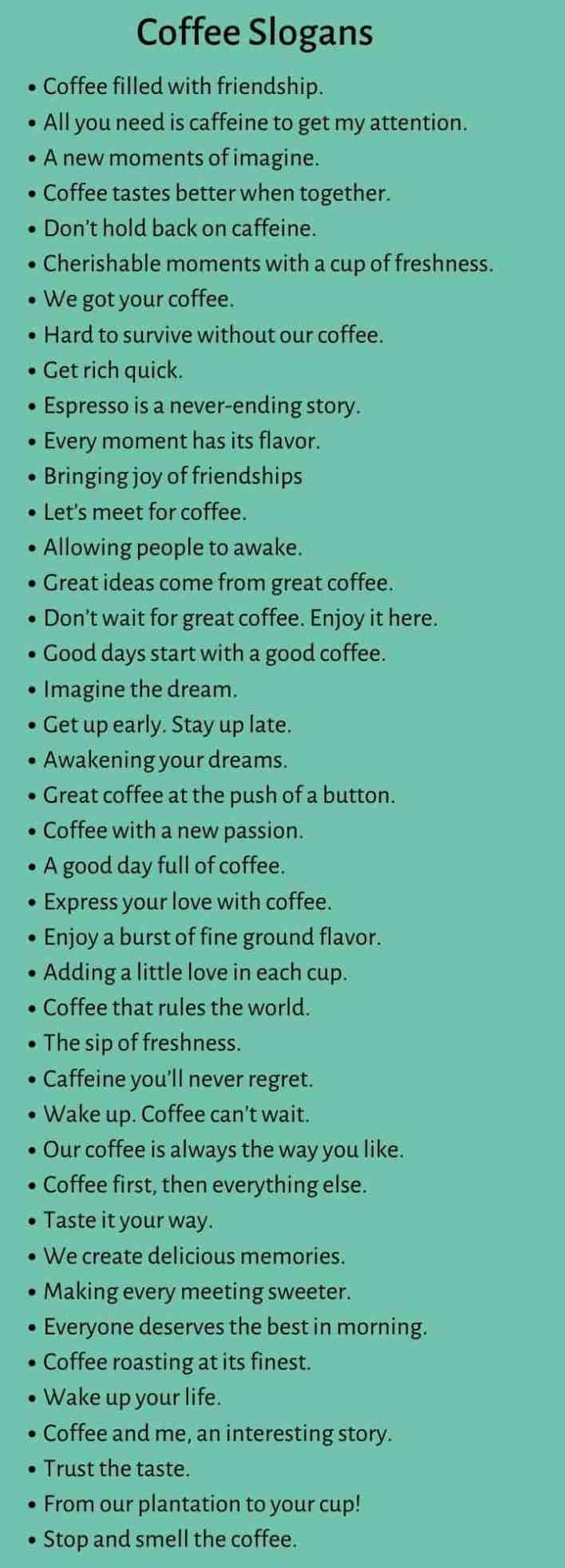 Coffee Slogans