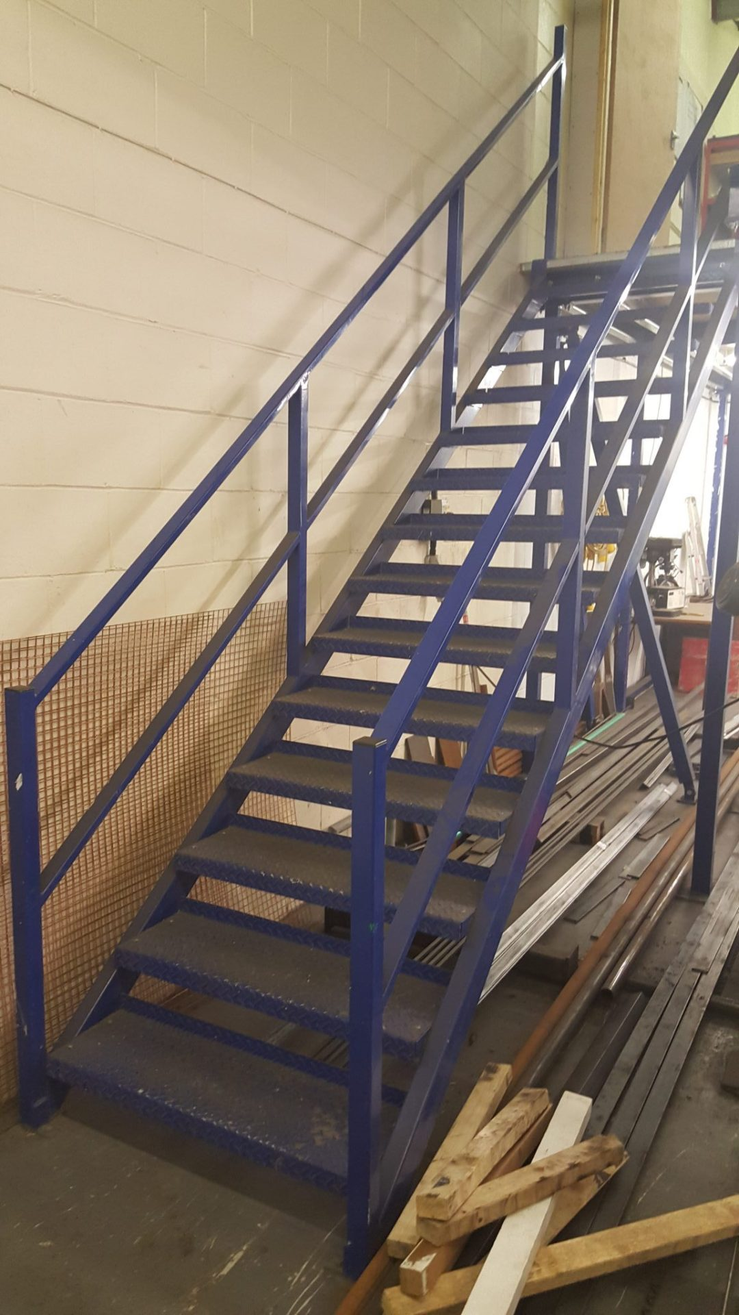 Mezzanine Steel Fabricated Staircase