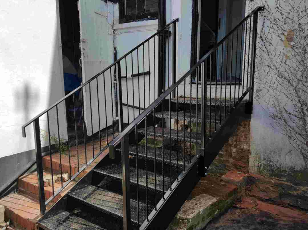 Fire escape Staircase Designed and Fabricated