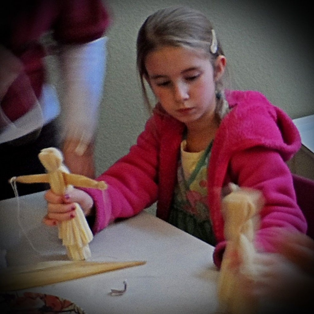 Hands On Homeschool Making Corn Husk Dolls